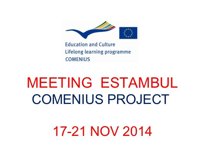 MEETING ESTAMBUL  COMENIUS PROJECT  17-21 NOV 2014