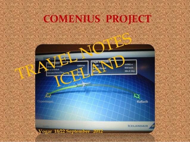 COMENIUS PROJECTVogar 18/22 September 2012