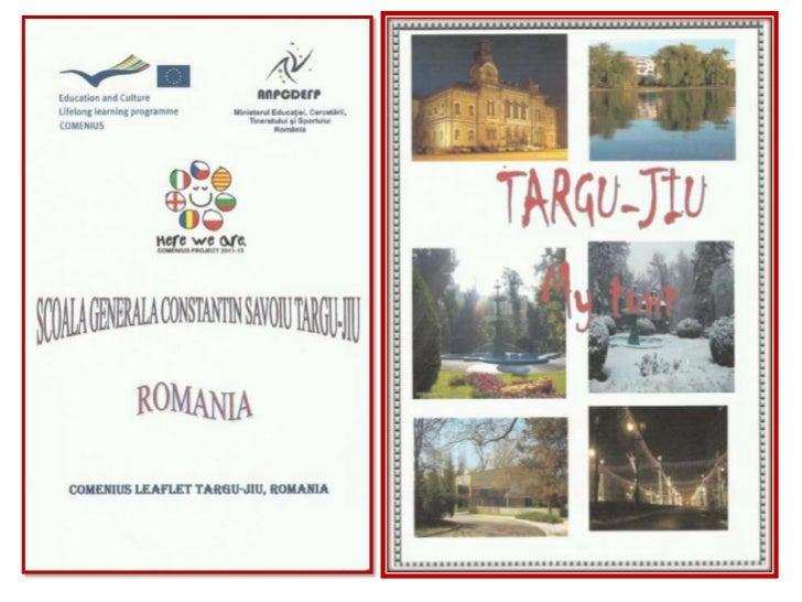 Comenius Leaflet Targu Jiu, Romania