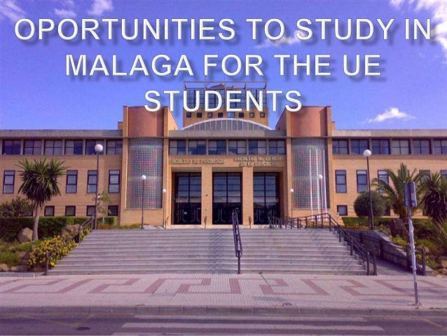 To access to the University of Málaga, students from EU Education Systems only must meet the academic profile required by ...
