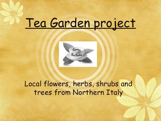 Tea Garden projectLocal flowers, herbs, shrubs andtrees from Northern Italy