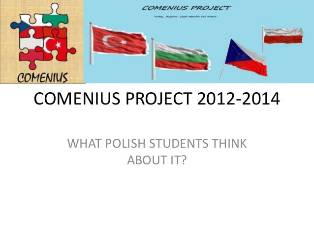 COMENIUS PROJECT 2012-2014   WHAT POLISH STUDENTS THINK           ABOUT IT?