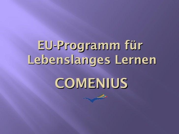 EU-Programm für  Lebenslanges Lernen COMENIUS