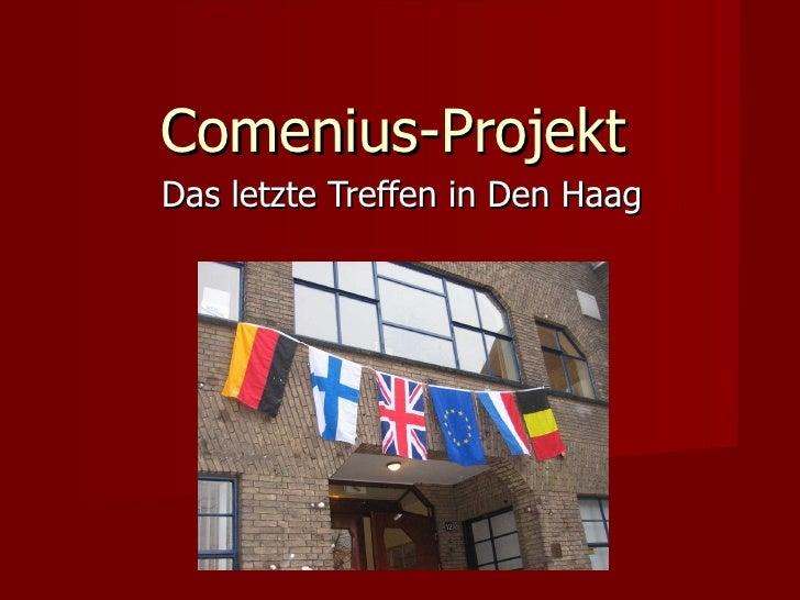Comenius-Projekt Das letzte Treffen in Den Haag