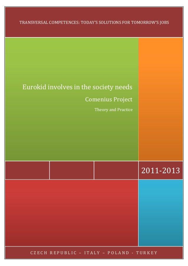 C Z E C H R E P U B L I C – I T A L Y – P O L A N D - T U R K E Y 2011-2013 Eurokid involves in the society needs Comenius...