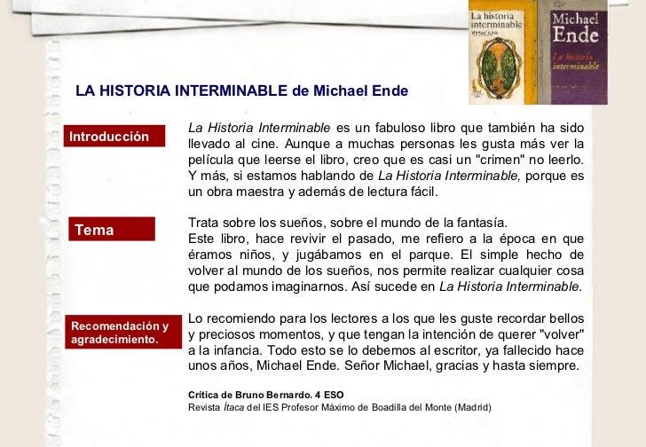 La Historia Interminable  es un fabuloso libro que también ha sido llevado al cine. Aunque a muchas personas les gusta más...