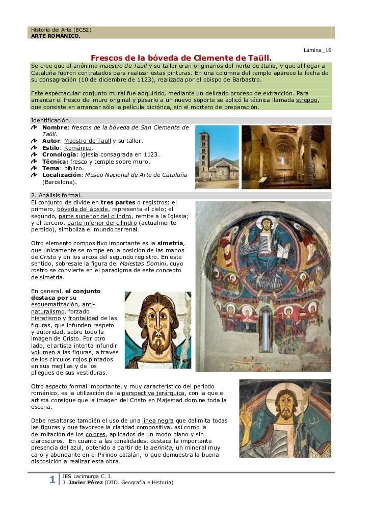 Historia del Arte (BCS2)ARTE ROMÁNICO.                                                                                    ...