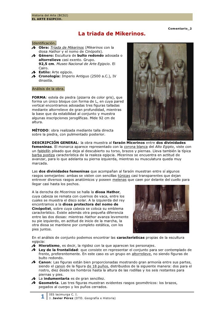 Historia del Arte (BCS2)EL ARTE EGIPCIO.                                                                                  ...