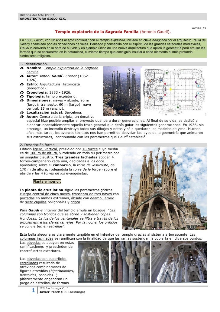 Historia del Arte (BCS2)ARQUITECTURA SIGLO XIX.                                                                           ...