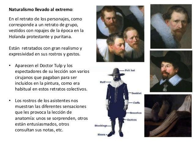 Comentario deLla lección de anatomía de Rembrandt