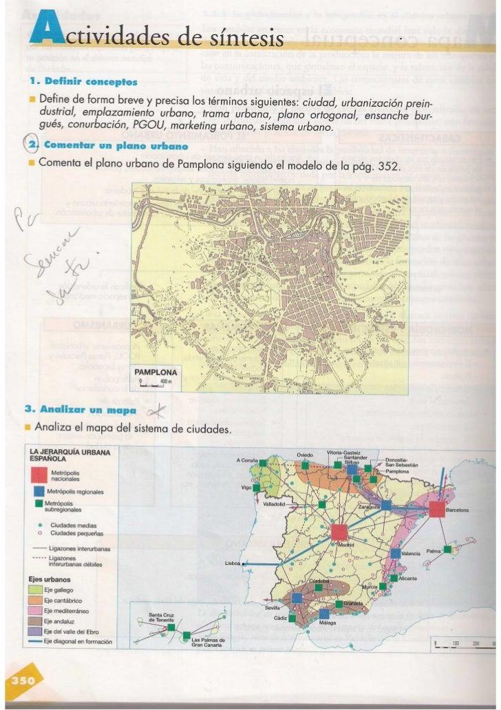 Comentario del plano de una ciudad/Análisis del mapa urbano de España