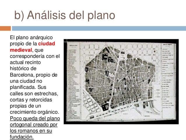 Analisis Del Matrimonio Romano Y El Actual : Comentario del plano urbano de barcelona