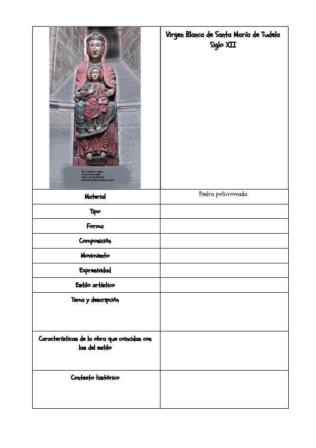Virgen Blanca de Santa María de Tudela                                                              Siglo XII             ...