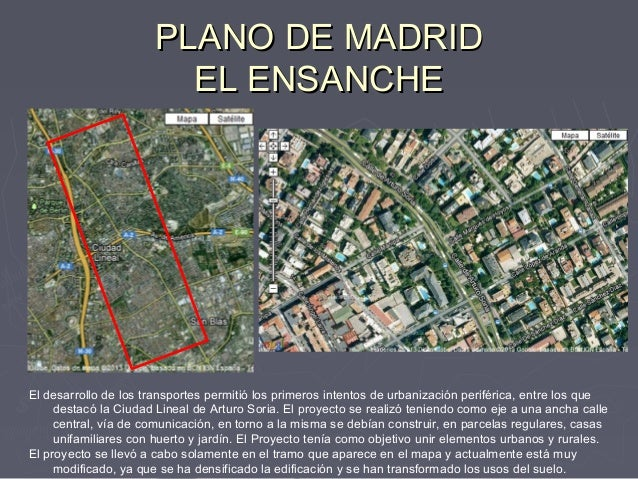 Comentario del plano de madrid for Ciudad jardin valdebebas