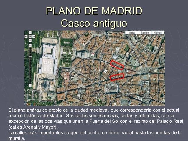 Comentario del plano de madrid - Centro historico de madrid ...