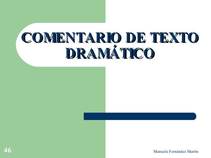 COMENTARIO DE TEXTO DRAMÁTICO