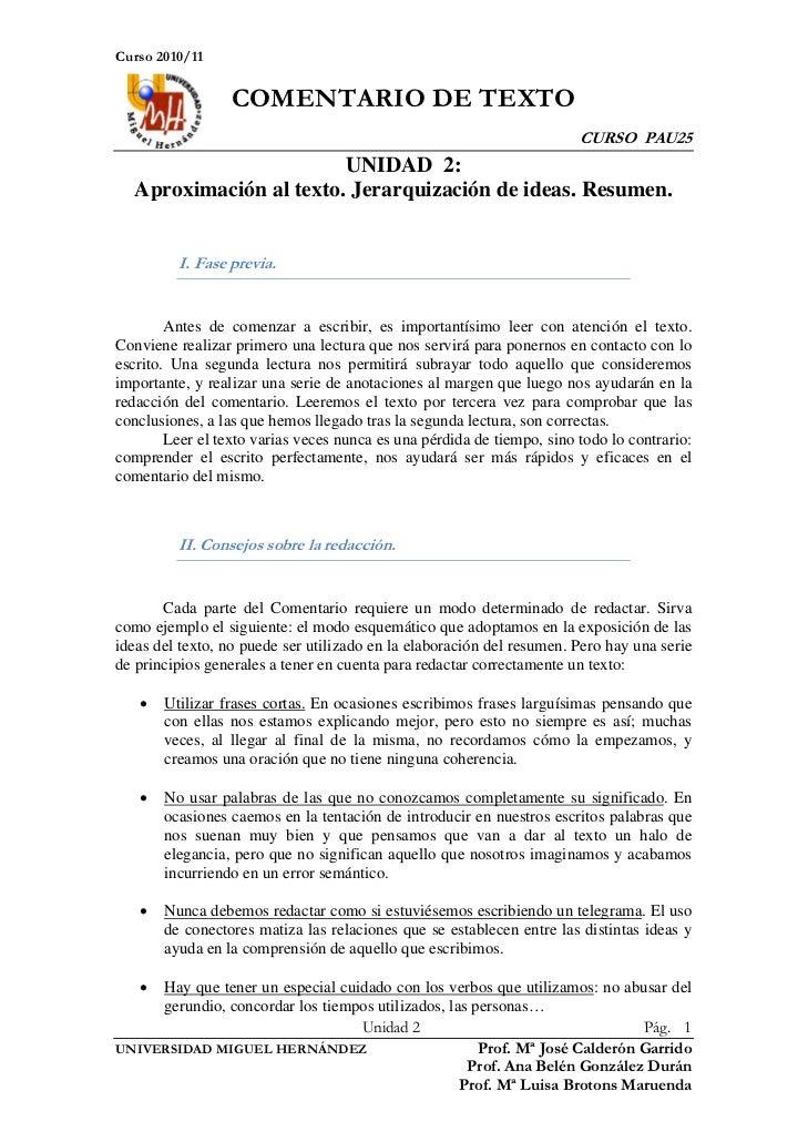 Curso 2010/11                  COMENTARIO DE TEXTO                                                                        ...
