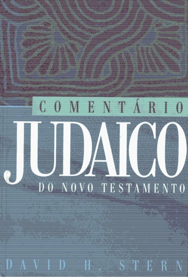 Comentario judaico do novo testamento   israel  david stern