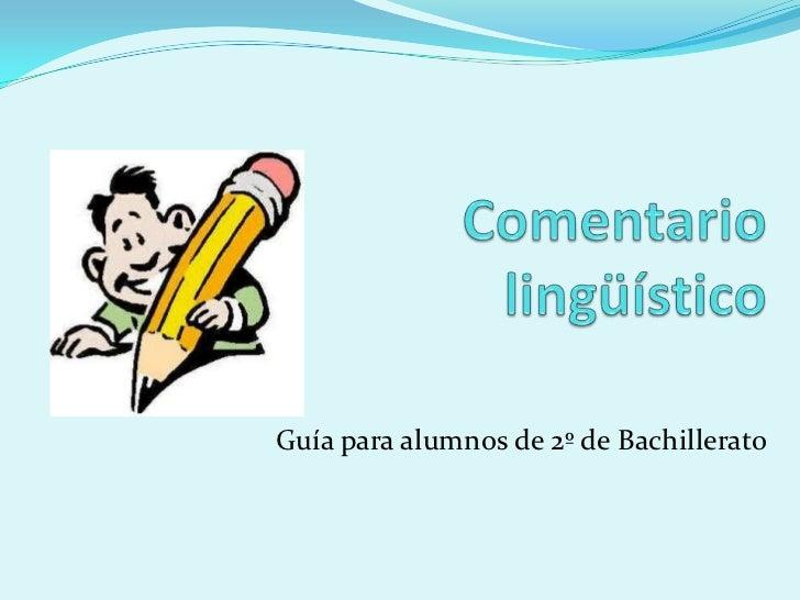 Guía para alumnos de 2º de Bachillerato