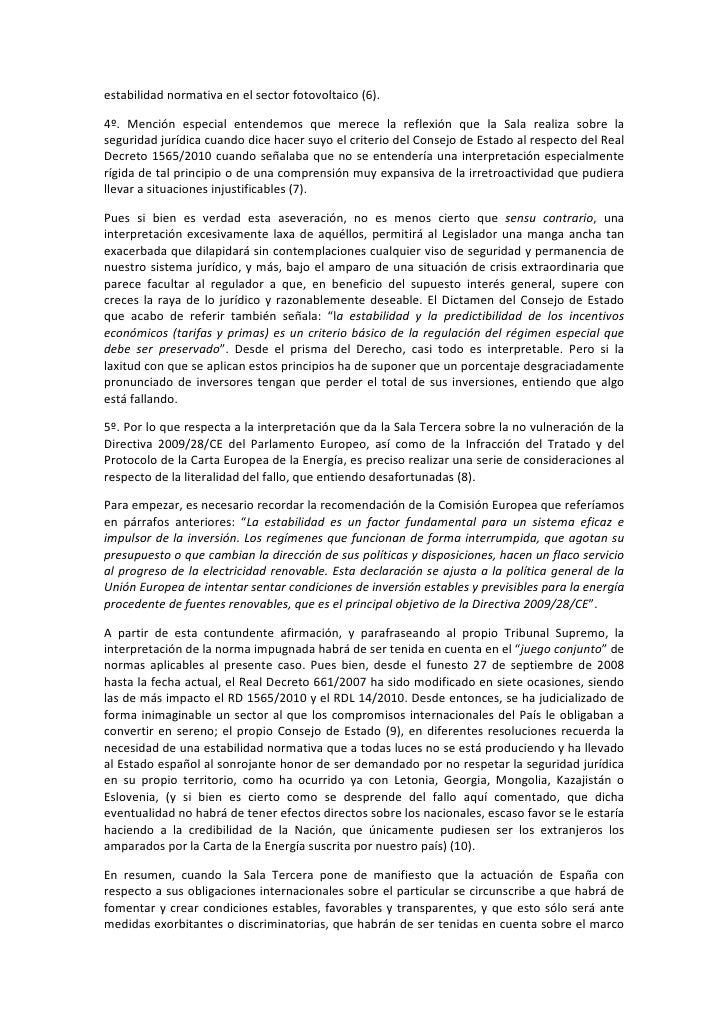 Rd 1565 2010 comentarios a la sentencia del tribunal for Sala 4 tribunal supremo