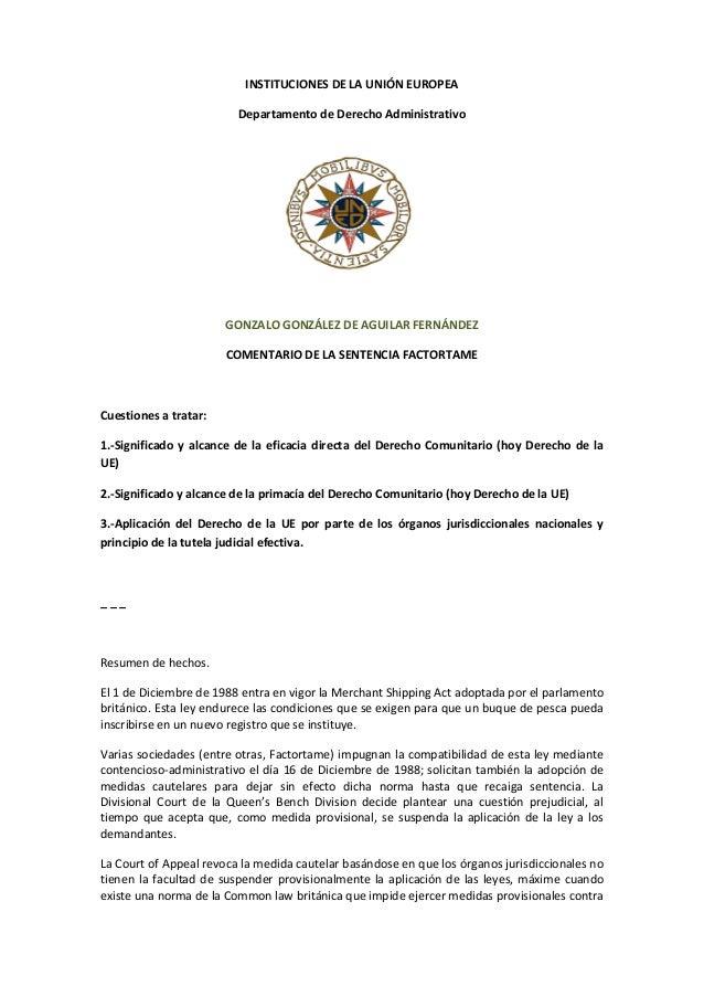 INSTITUCIONES  DE  LA  UNIÓN  EUROPEA   Departamento  de  Derecho  Administrativo               ...