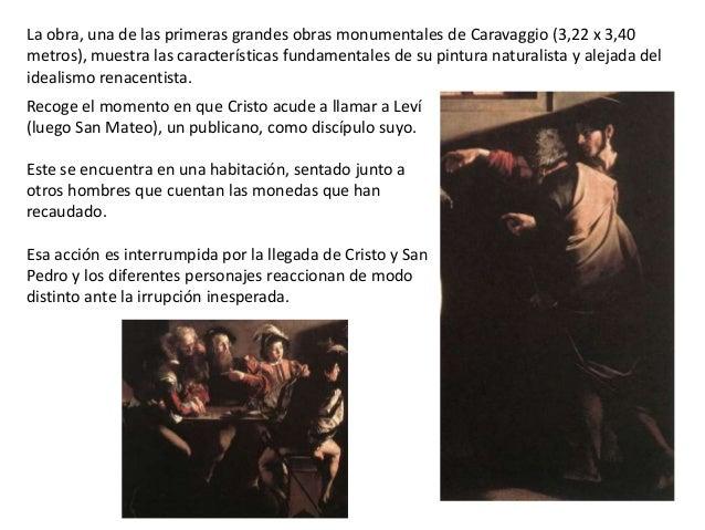 Comentario La Vocacion De San Mateo De Caravaggio