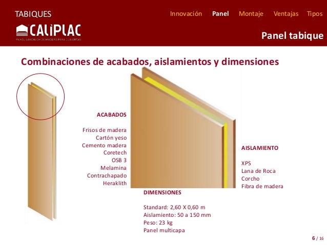 Caliplac informaci n comercial de tabiques y trasdosados - Tabiques de madera ...