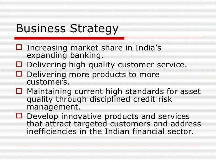 hdfc marketing strategy