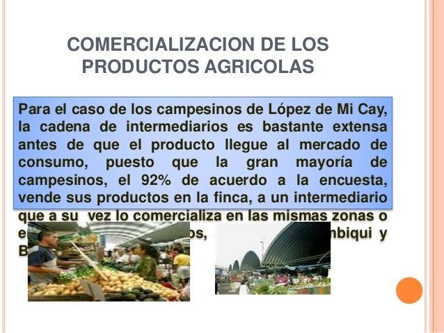 Para el caso de los campesinos de López de Mi Cay, la cadena de intermediarios es bastante extensa antes de que el product...