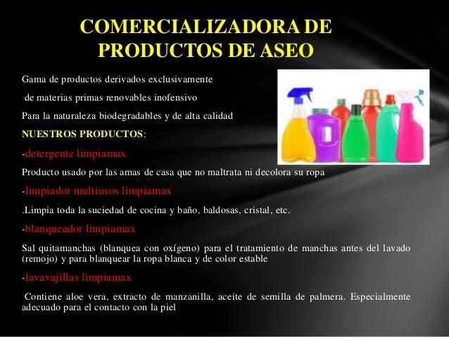 dise u00f1o de proyectos comercializadora de productos de aseo