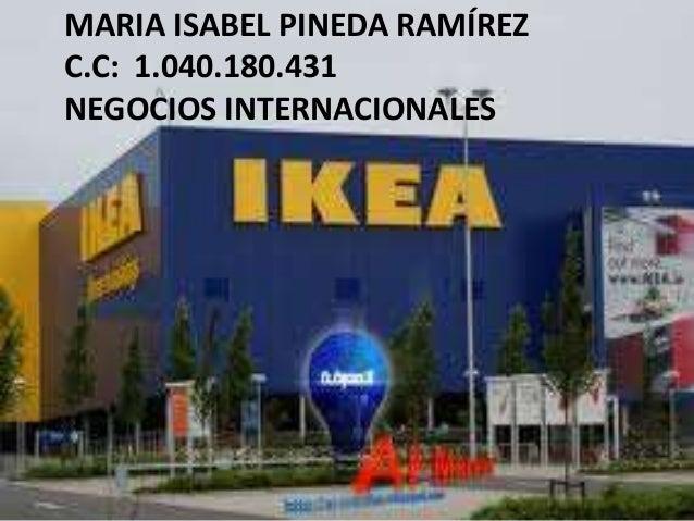 MARIA ISABEL PINEDA RAMÍREZC.C: 1.040.180.431NEGOCIOS INTERNACIONALES