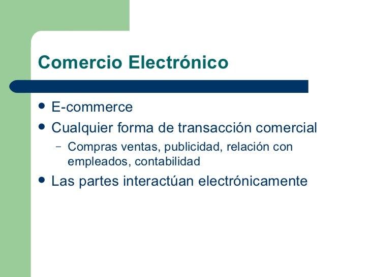 Comercio electronico Slide 2