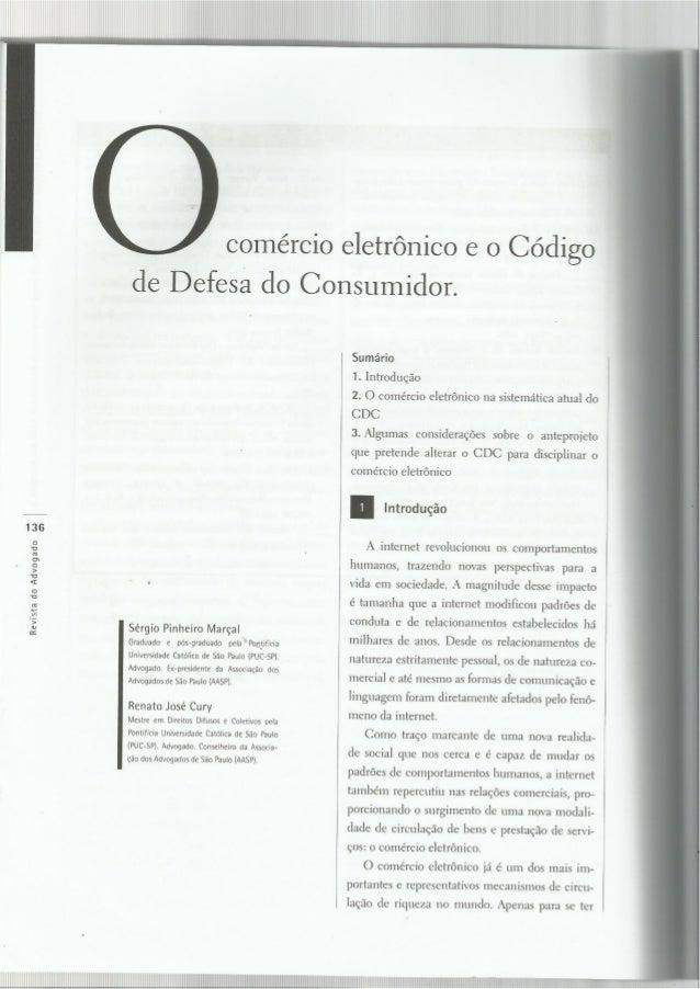 COMÉRCIO ELETRÔNICO E CDC