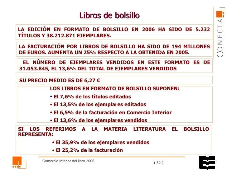 Libros de bolsillo  LA FACTURACIÓN POR LIBROS DE BOLSILLO HA SIDO DE 194 MILLONES DE EUROS. AUMENTA UN 25% RESPECTO A LA O...