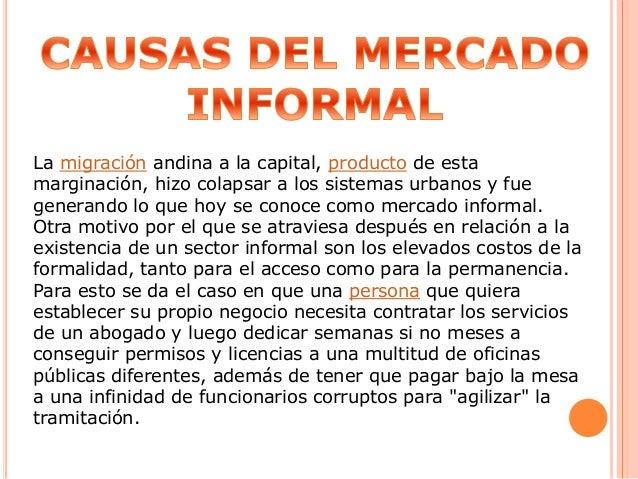 La migración andina a la capital, producto de esta marginación, hizo colapsar a los sistemas urbanos y fue generando lo qu...