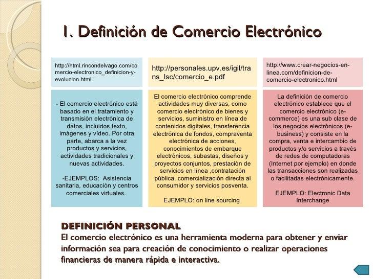 Comercio electr nico for Definicion de gastronomia pdf
