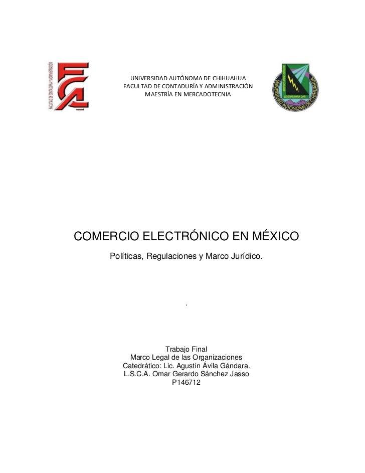 UNIVERSIDAD AUTÓNOMA DE CHIHUAHUA        FACULTAD DE CONTADURÍA Y ADMINISTRACIÓN              MAESTRÍA EN MERCADOTECNIA   ...