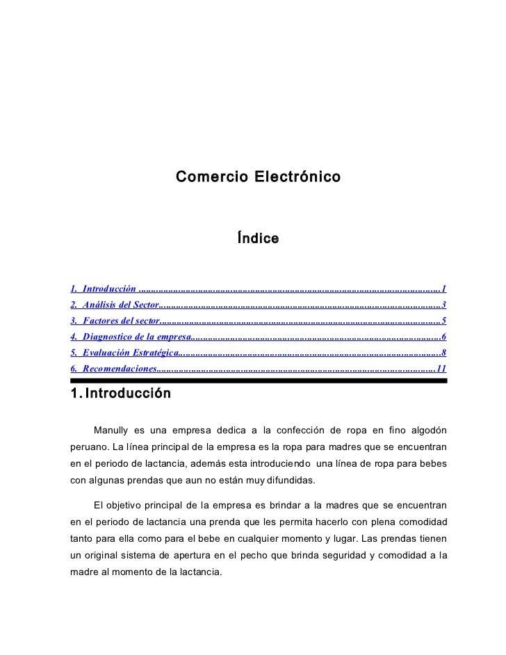Comercio Electrónico                                                             Índice1. Introducción ......................