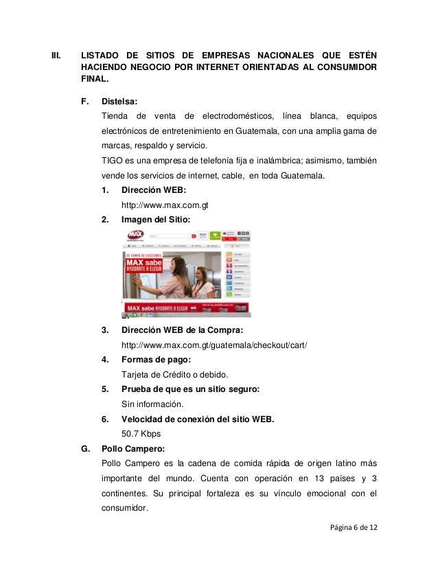 Comercio Electronico En Guatemala