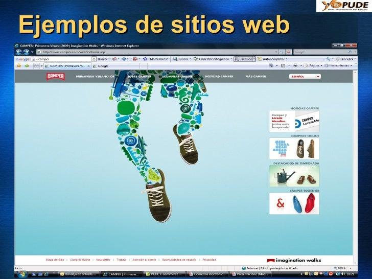 Ejemplos de sitios web