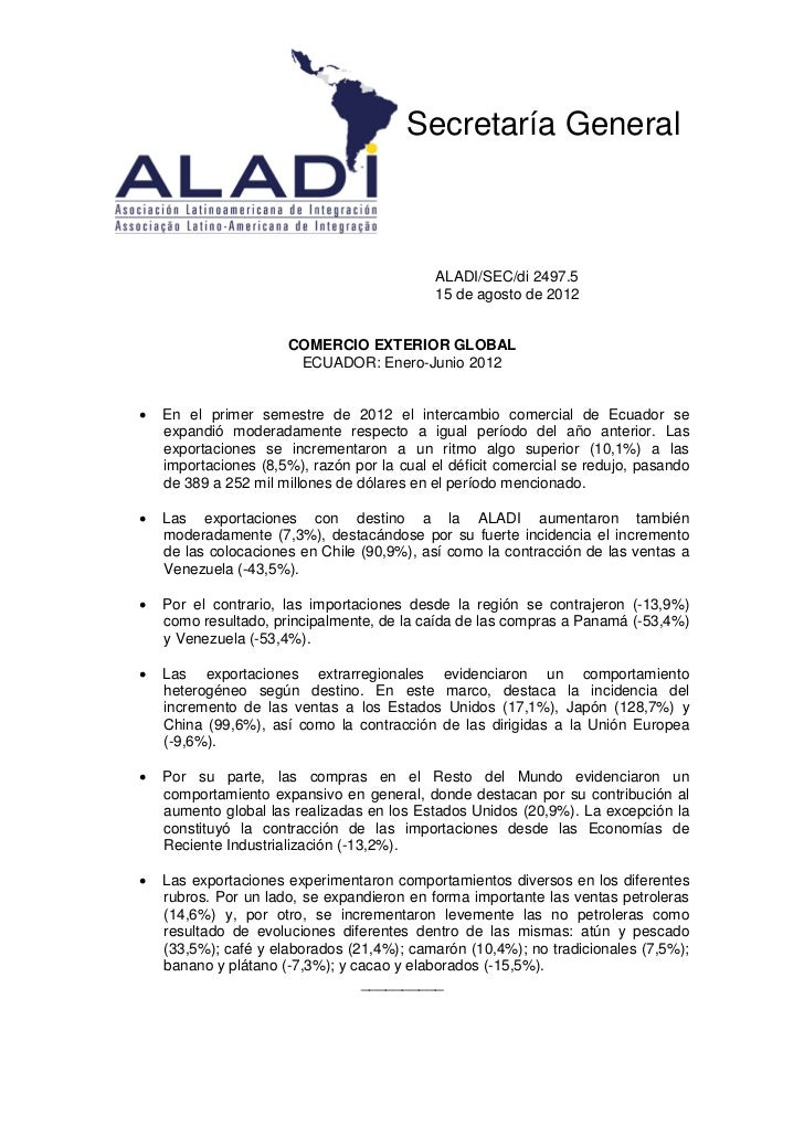 Secretaría General                                            ALADI/SEC/di 2497.5                                         ...