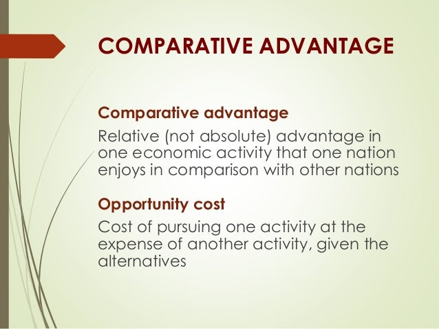 international trade pattern and competitive advantage The theory of comparative advantage is perhaps the most important concept in international trade theory  the pattern of trade (who exports and who imports what.