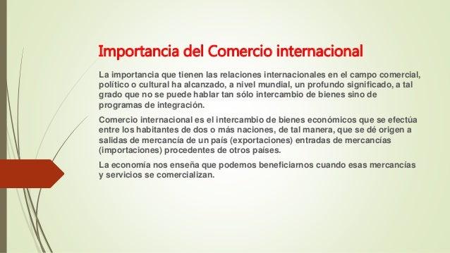 Comercio internacional exp for Comercio exterior que es