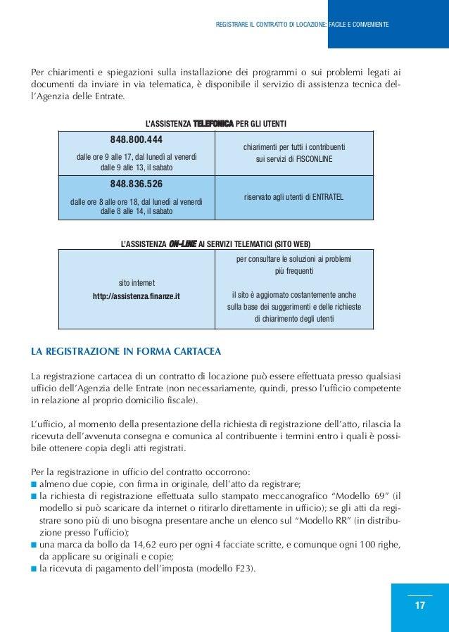 Come registrare il contratto di locazione for Registrazione contratto preliminare di compravendita agenzia delle entrate