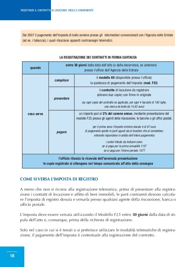 Come registrare il contratto di locazione - Calcola imposta di registro ...