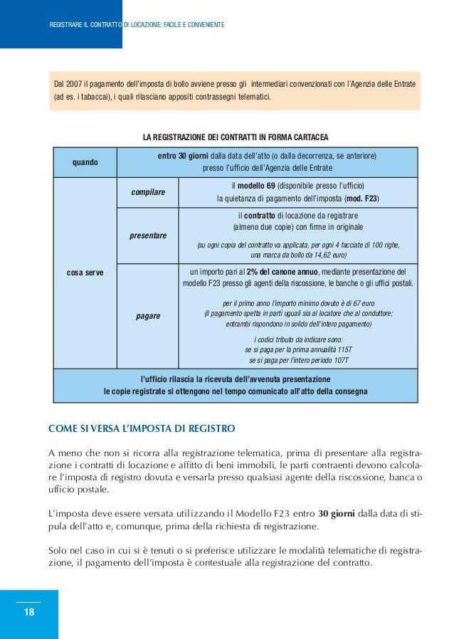 ... CONTRATTO DI LOCAZIONE: FACILE E CONVENIENTE; 17. LA REGISTRAZIONE ...