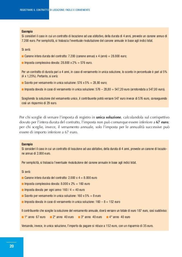 Come registrare il contratto di locazione for Imposta di registro locazione
