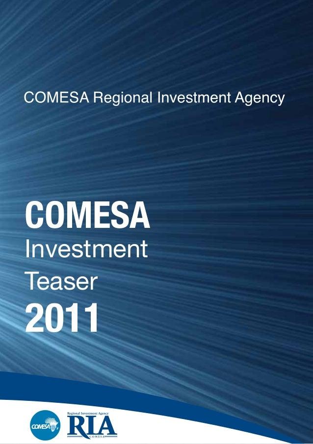 COMESA Investment Teaser 2011