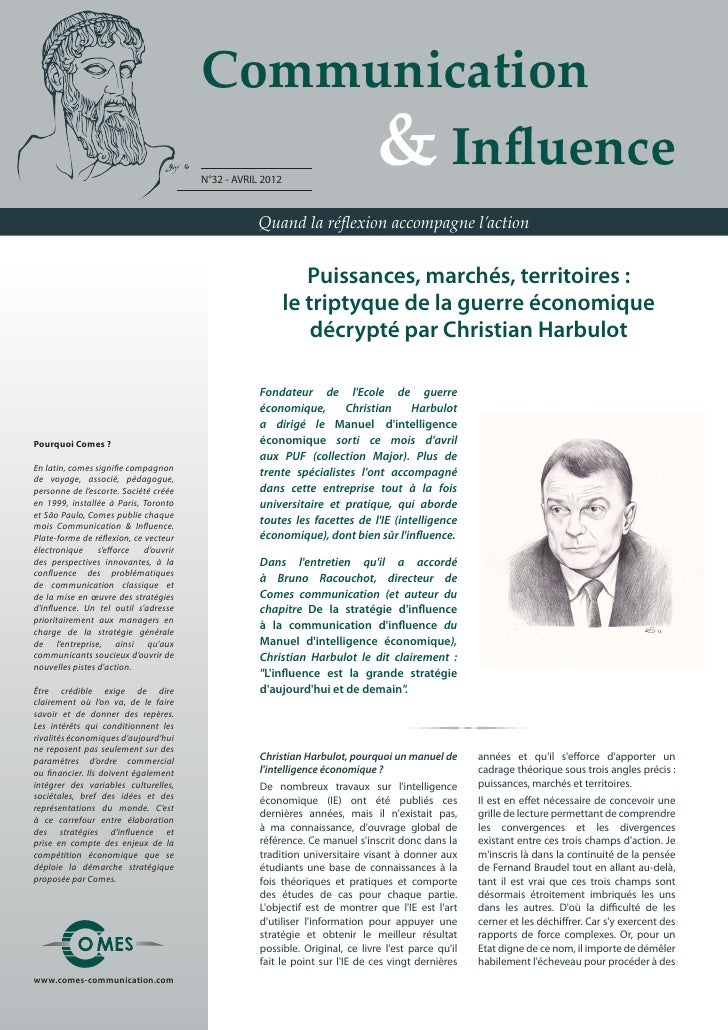 Communication                                       	 	 	 	 & Influence                                       N°32 - AVRIL...