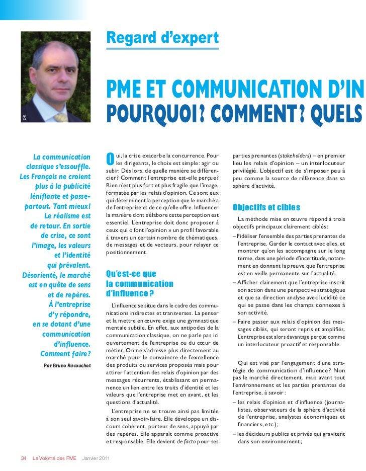 Regard d'expert                                    PME et communication d'in                                    Pourquoi?...